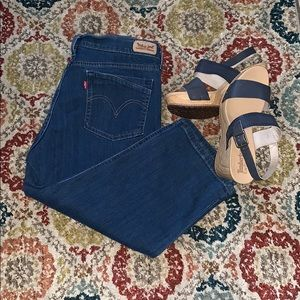 Levi's Crop Jeans Medium Wash 12